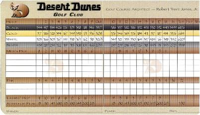 Desert Dunes Golf Desert Dunes Golf Course Palm